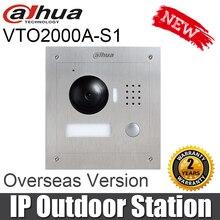 Dahua VTO2000A-S1 1.3MP видео телефон двери P2P металлическая наружная станция дистанционного домофона мобильное приложение ночного видения замена VTO2000A