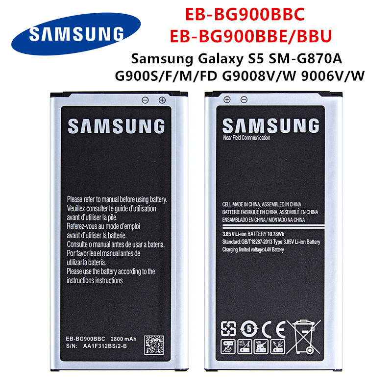 SAMSUNG Orginal EB-BG900BBC EB-BG900BBE/BBU 2800mAh Battery For Samsung Galaxy S5 SM-G870A G900S/F/M/FD G9008V/W 9006V/W