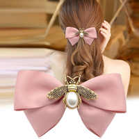 i-Remiel Korean Fashion Headdress Pin Top Spring Clip Floral Hairpin Clips Adult Hairband Small Bee Hair Accessories for Women