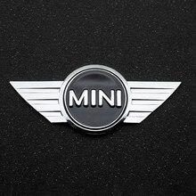 Etiqueta do carro de metal 3d chrome emblema emblema decalque para bmw mini cooper um s jcw r55 r56 r60 f55 f56 countryman decoração automóvel