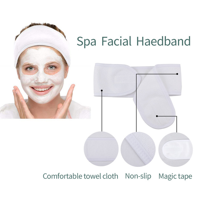 10Pcs Makeup Hairband Wrap Eyelashes Extension Spa Facial Headband Cloth Face Washing Hair Band Women Adjustable Headscarf 2