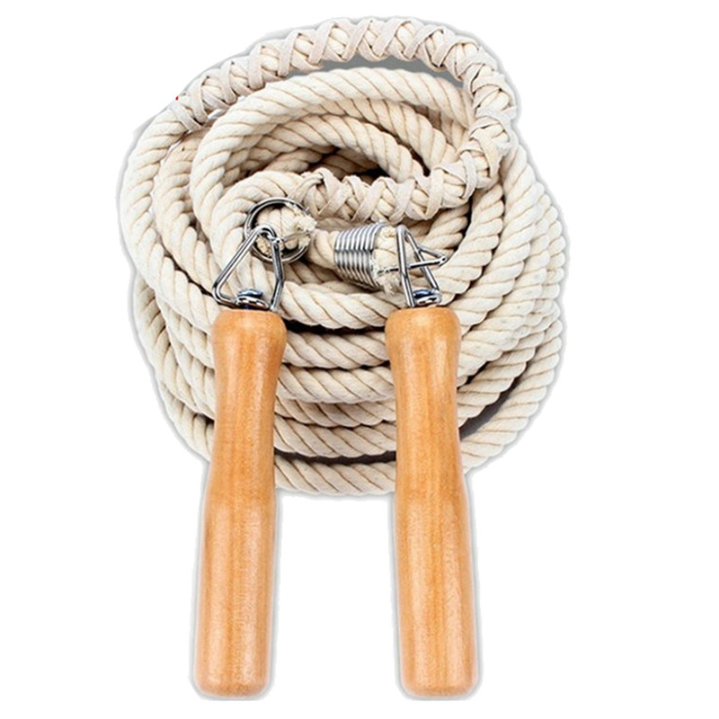 Hot Jump <font><b>Rope</b></font> Wooden <font><b>Handle</b></font> <font><b>Skipping</b></font> Gym School Group Multi Person <font><b>Rope</b></font> Jumping Fitness Equipment 7M image