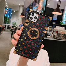 YXAYN 3D fashion luxury mobile shell Square Glitter For iPhone 7 8 Plus X XR XS