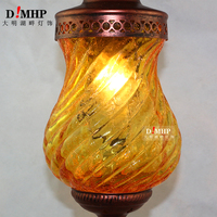 Mediterranean Style Decoration Handmade Turkish Pendant Light Glass Shades Mosaic Pendant Lamp For Bar Coffee Shop