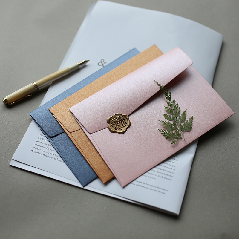 5pcs/lot B6 Thick Metallic Feel Starlight Literary Envelopes #3 175mmX125mm Planner Scrapbooking Tools Storage Envelopes