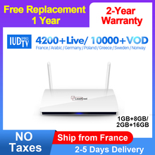 Europe 2000 Channels IUDTV IPTV Subscription Leadcool Android TV Box 8GB HDMI Wifi Smart TV Box Turish French Arabic IPTV Box