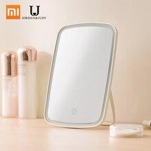 شاومي Mijia مرآة المكياج المزودة بمصباح ليد ضوء اللمس التبديل التحكم الطبيعي المحمولة يشكلون مصباح ليد عنبر مرآة مكتب 1200mAh