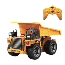 Toys-Alloy Dump-Truck 1/18-Huina Engineering Rc-Model Excavator Remote-Control Cars Vehicle