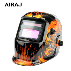 AIRAJ Welding Helmet Solar Automatic Dimming Argon Arc Mask Electrician Welding Protective Gear Motorcycle Helmet