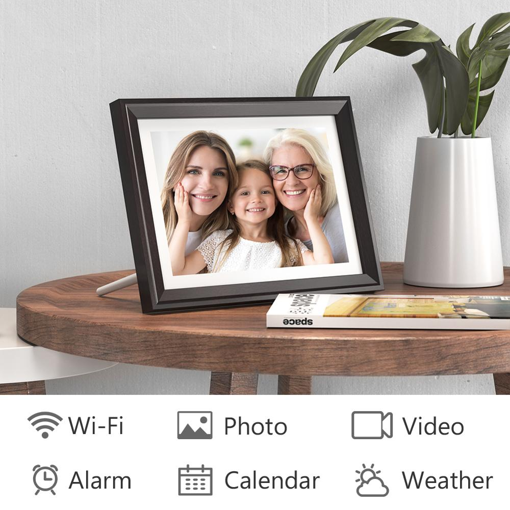 Digital-Photo-Frame Display Touch-Screen Photos Dragon-Touch Classic10-Wifi Email 10inch