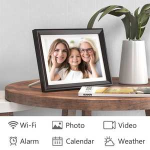 Digital-Photo-Frame Touch-Screen Dragon-Touch Share Display Photos Classic10-Wifi LED