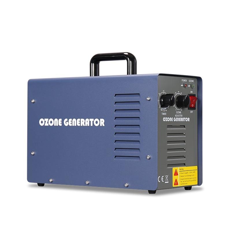7g/H Portable Ozone Generator Water Deodorizer Sterilization Air Purification Sterilizer Professional Ozonator AC220V EU Plug