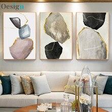 Imagem abstrata geométrica arte pintura nordic decoração de parede para sala de estar casa