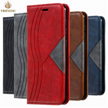 Luxury Color Block Leather Flip Case For Samsung Galaxy S7 Edge S8 S9 Plus S10E Lite S20 FE Note 20 S21 Ultra Wallet Stand Cover