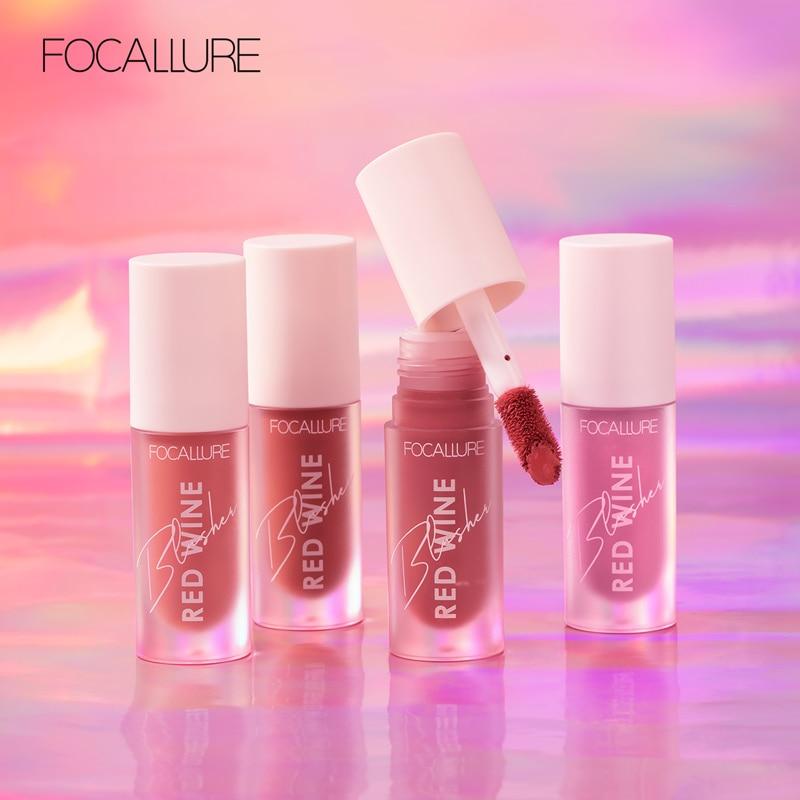 FOCALLURE Face Liquid Blusher Contour Makeup Long-lasting Matte Make Up Natural Cheek Contour Blush
