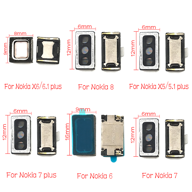 20pcs Lot Cell Phone Earpiece Ear Speaker Receiver For Nokia 2 2 1 3 3 1 5 5 1 6 6 1 7 7 1 8 Plus Sirocco Mobile Phone Flex Cables Aliexpress