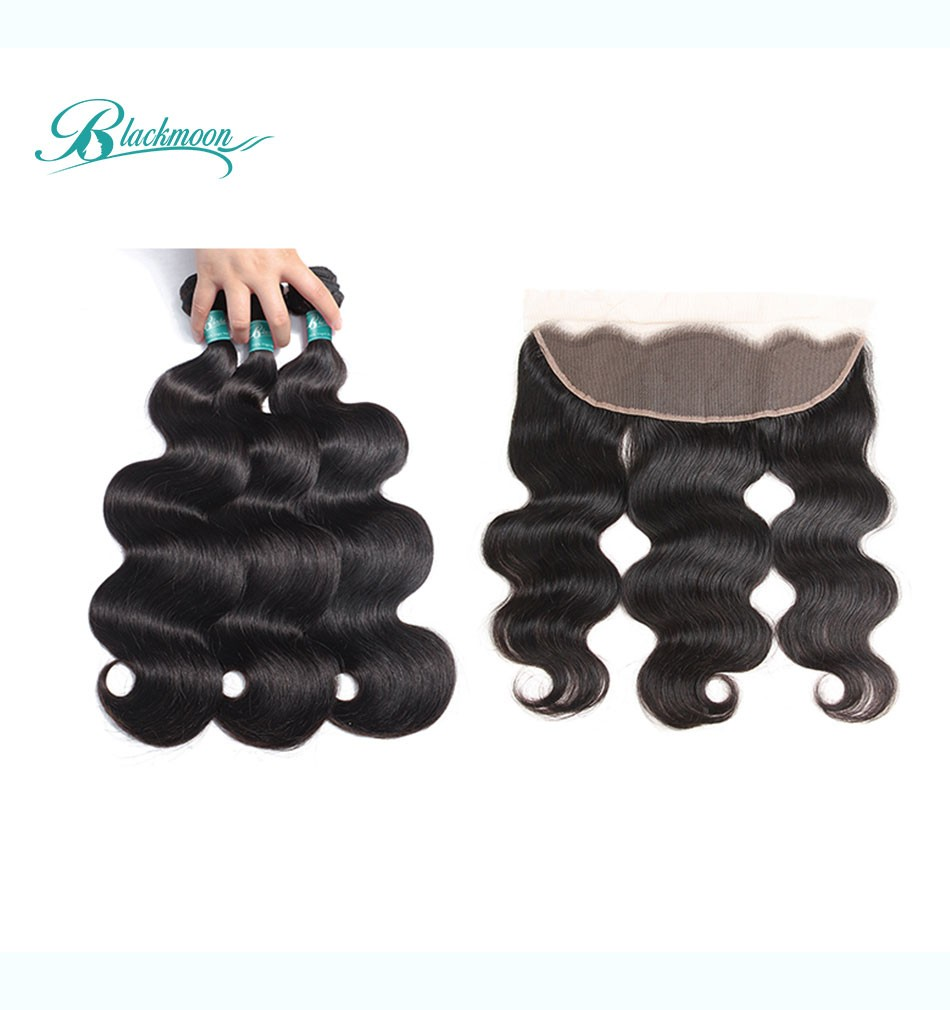 body wave hair weave bundles with frontal-3+13_05