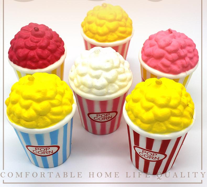 New cute decompression toy simulation Squishy slow rebound popcorn PU popcorn slow rebound toy ice cream slow rebound