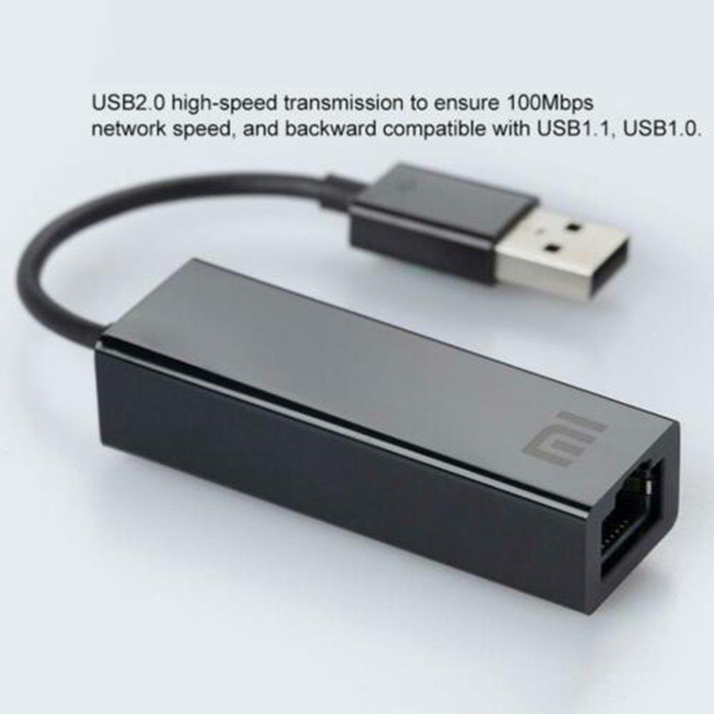 Xiaomi Adapter-Cable Notebook Ethernet-Card Mi-Box Laptop External RJ45 Original 10/100mbps title=