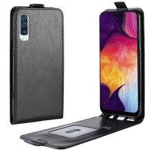 For Samsung Galaxy A50 Case Flip PU Leat