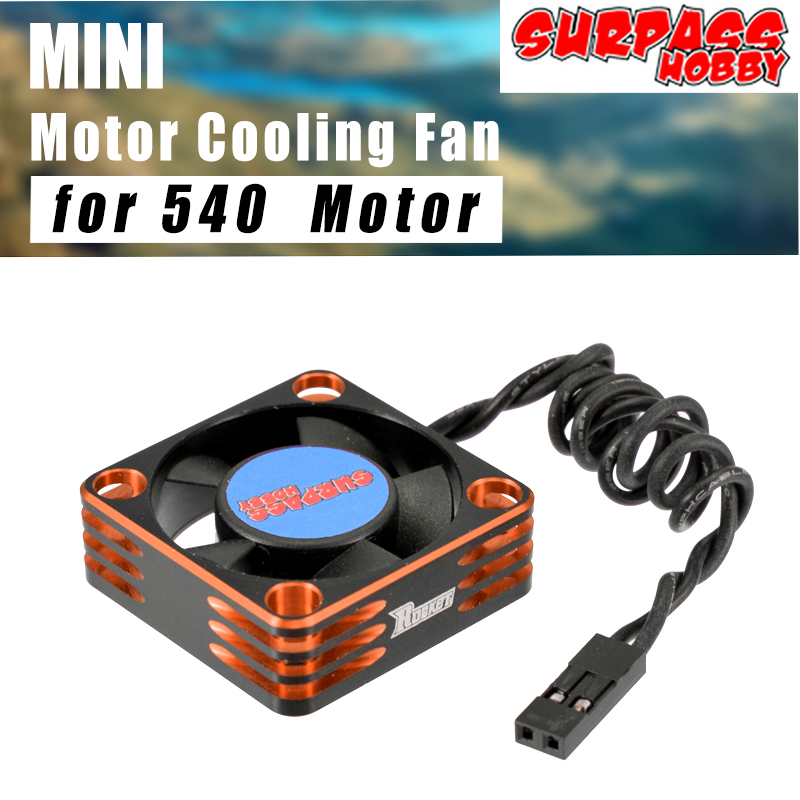 SURPASS HOBBY Metal <font><b>Motor</b></font> Cooling <font><b>Fan</b></font> <font><b>5V</b></font> 28000RPM Heat Dissipation Cooling <font><b>Fan</b></font> for 540 Brushless <font><b>Motor</b></font> image