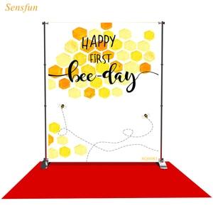 Image 1 - LEVOO 사진 배경 해피 첫 번째 꿀벌의 날 베이비 샤워 사진 배경 사진 스튜디오 촬영 소품 Photocall 비닐