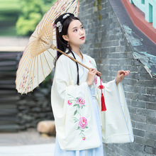 2019 Chinese Traditional Clothes Hanfu Women White Cotton Improved Han Element China Vintage Skirt Green Dynastie Tang