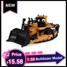HUINA 1700 1:50 литой под давлением тяжелый бульдозер инженерный грузовик статическая модель гусеничный колесный бульдозер детская развивающая игрушка