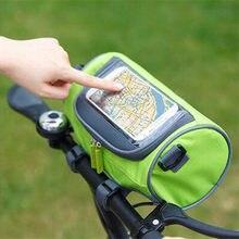 Multifuncional saco de equitação montanha estrada bicicleta tela toque saco quadro tubo guiador saco equitação saco armazenamento cn001