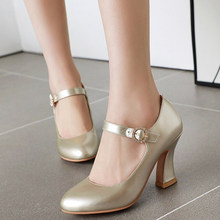 Shoes Sexy High-Heels Silver Pumps Women Gold Mary Jane Fashion Office Party Pink Spring-Fashion-Designer