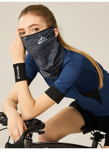 Spring Summer Cycling Half Face Mask Skin Cool Ice Silk Breathable UV Protection Sports Headwear Bike Headband Mask 4
