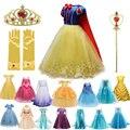 Платье для девочек, детская одежда для костюмированной вечеринки на Хэллоуин вечерние костюм принцессы, детское платье на Рождество платье...
