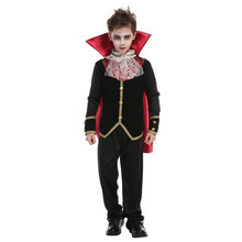 Halloween Boy Prince Vampire Cosplay Costume Umorden Carnival Party Kids Children Count Dracula Gothic