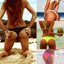 Swimwear Women Briefs Bikini Botton Side Ties Brazilian Thong Swimsuit Classic Cut Bottoms