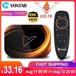 2020 VONTAR X3 4GB 128GB 8K TV BOX Android 9 Smart Android TVBOX 9,0 Amlogic S905X3 Wifi 1080P 4K Set Top Box 4GB 64GB 32GB