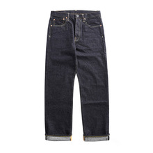 цена на 47501-0002 size 28-42 vintage 14 oz raw indigo selvage stylish trousers mens casual raw denim jean pants