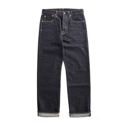 47501-0002 size 28-42 vintage 14 oz raw indigo selvage stylish trousers mens casual raw denim jean pants