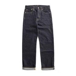 47501-0002 tamaño 28-42 vintage 14 oz materias primas indigo selvage elegante Pantalones casual para hombre materias primas pantalones de jean de denim