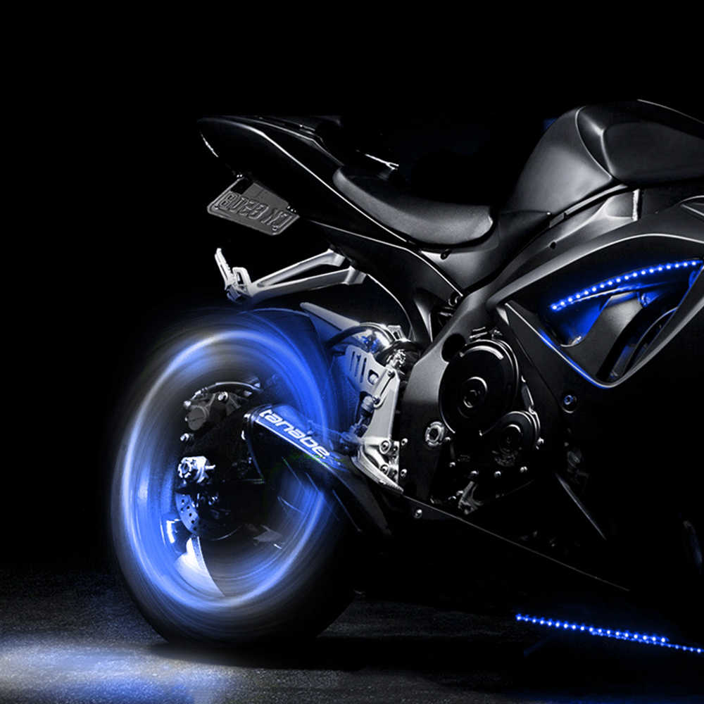 Forauto 2 Pcs Mobil Roda Lampu LED Motor Sepeda Lampu Motif Dekoratif Lentera Motif Flash Berbicara lampu Neon