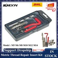 Kit de inserção de reparo de rosca métrica m5 m6 m8 m10 m12 m14 helicoil carro pro bobina ferramenta grossa estilo do carro ferramentas de reparo