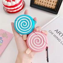 3d чехол для наушников sugar lollipop apple airpods защитный