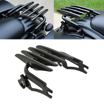 Motorcycle Detachable Stealth Luggage Rack For Harley Road King Street Glide Electra Glide Ultra Classic Custom 2009-2020 for harley touring road king street glide electra glide detachable backrest sissy bar with stealth luggage rack 2009 2018 2019