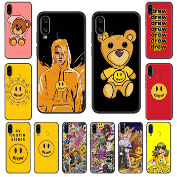 Drew House Justin Bieber Phone case For Huawei Honor Mate 5 7 8 9 10 20 i A X Lite Pro black fashion shell art waterproof tpu image