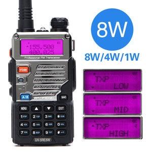 Image 2 - BAOFENG UV 5RE Tri power 8 Вт/4 Вт/1 Вт 10 км портативная рация высокой мощности cb HAM двухстороннее радио обновление UV 5RE