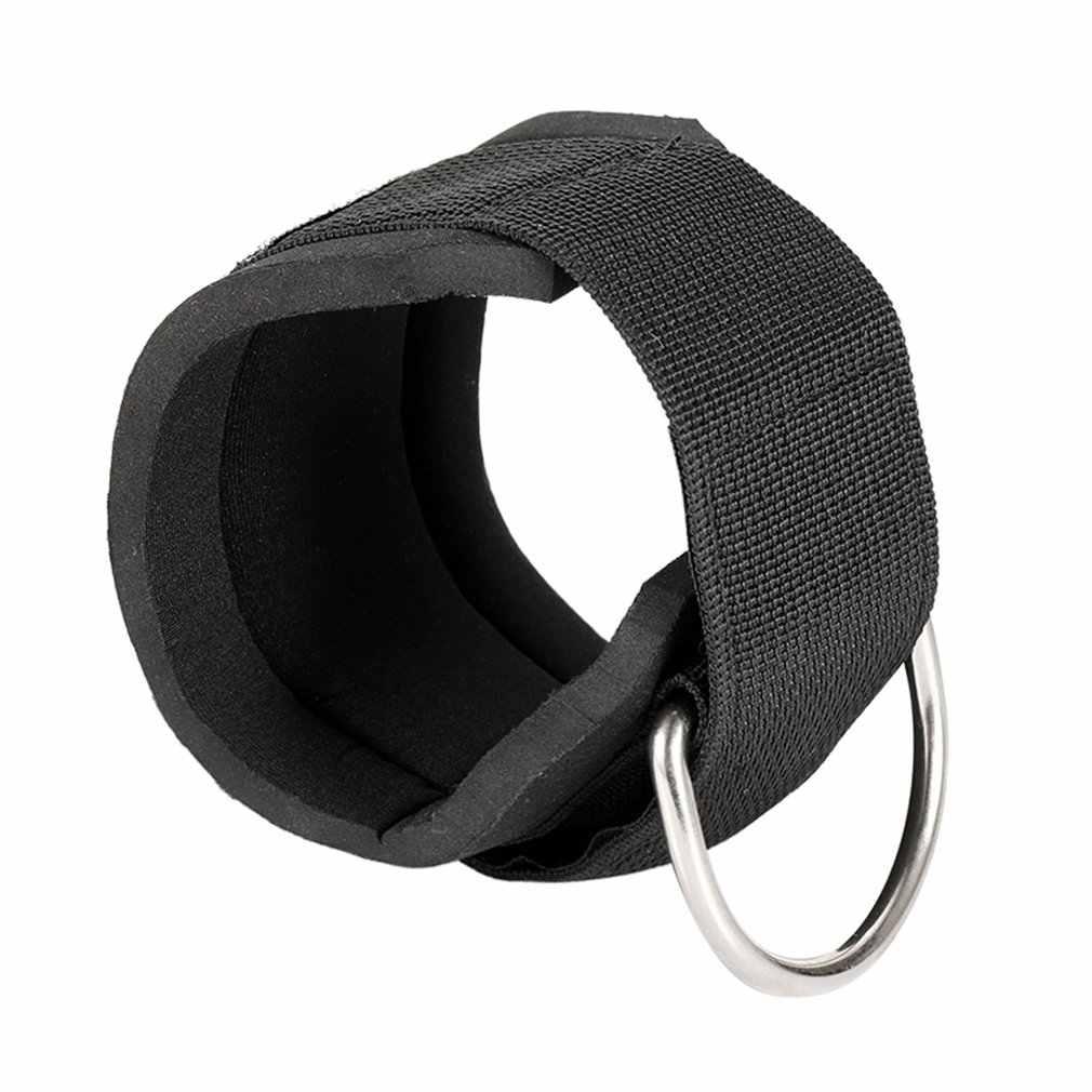 Spor ayak bileği sapanlar yastıklı D halka ayak bileği manşetleri spor salonu egzersiz kablo makineleri bacak egzersizleri ile taşıma çantası (siyah)