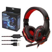 Słuchawki dla graczy duże słuchawki z lekkim mikrofonem przewodowe słuchawki dla graczy słuchawki stereo głęboki bas dla PS4 przełącznik Laptop gamer tanie tanio Skatolly Brak Dynamiczny 3 5mm Przewodowy 108±3dB NONE 16Ω 2 2 m 20-20000Hz Do Internetu Bar Do Gier Wideo Wspólna Słuchawkowe