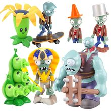 Plants VS Zombies PVC Action Figure Set Collectible Mini Figure Model Toy Gifts Toys For Children High Quality Brinquedos cute nyan board cat in danboard mini pvc action figures collectible model toys gifts 10pcs set 7cm