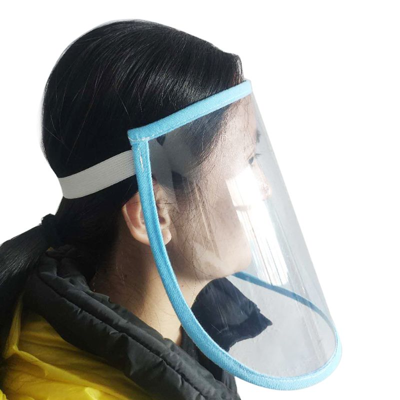 Anti Splash Mask Protective Face Shield Transparent Flip Up Elastic Band Full Face Cover Child Adult Dust-proof Outdoor Cleaning