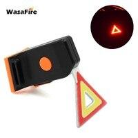 WasaFire Bike Rücklicht 6 Modi Dreieck Form Rot Gelb Lichter COB LED Fahrrad Licht Hinten Lampe USB Aufladbare fahrrad licht