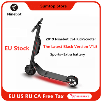 Original Ninebot KickScooter ES4/ES2 Scooter eléctrico inteligente de 2 ruedas plegable largo vuelo estacionario Junta Scooter hoverboard skate